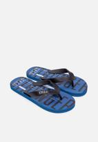 S.P.C.C. - Dune fashion printed flip flops -  blue