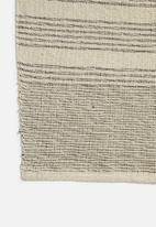 H&S - Linear woven throw - natural