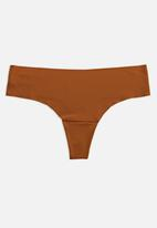 GUGU INTIMATES - Zuri seamless thong - brown