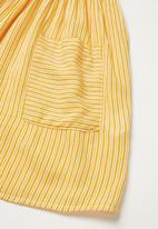 Superbalist Kids - Pocket detail stripe dress - yellow