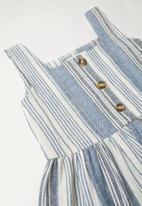 Superbalist Kids - Pocket detail stripe dress - blue