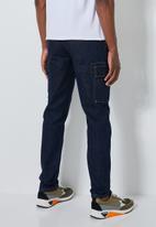 Superbalist - Detroit tapered cargo jeans - indigo