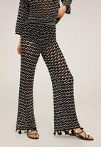 MANGO - Trousers carolina - black