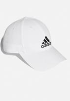 adidas Performance - 6 Panel cap lightweight embroidered - white & black
