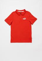 PUMA - Pique polo short sleeve tee - red