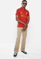 POLO - Prs logo mania golfer - red