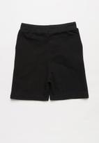POP CANDY - Boys fleece shorts - black