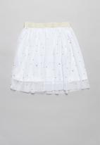 POP CANDY - Mesh skirt  - white
