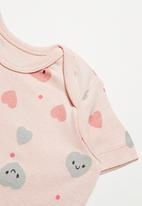 POP CANDY - Girls 2 pack smiley heart tees - pink