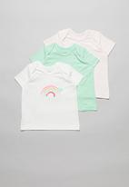 POP CANDY - Baby girls 3 pack heart print tees - multi
