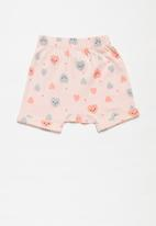 POP CANDY - Girls 3 pack smiley hearts shorts - pink