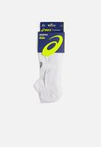 Asics - 6 Pack invisible socks - white