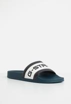 G-Star RAW - Cart slide iii - navy & white