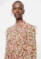 MANGO - Ruffle detail dress - multi