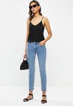 ONLY - Alba short sleeve top - black
