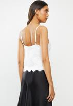 ONLY - Alba short sleeve top - white