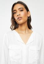 ONLY - Zana long sleeve shirt - white