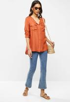 ONLY - Zana long sleeve shirt - rust