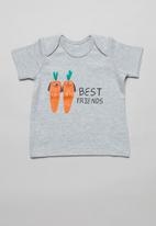 POP CANDY - Baby boys 2 pack tees - grey & white