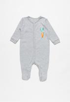 POP CANDY - Baby boys 2 pack sleepsuits - grey & blue