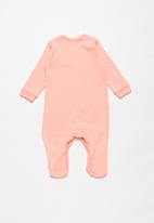 POP CANDY - Girls 2 pack sleepsuits - light pink & coral