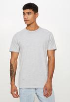 Cotton On - Essential crew tee - light grey marle