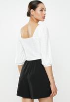 Brave Soul - Long sleeve top with buckle - cream