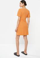 Brave Soul - Short sleeve mini dress - rust