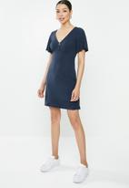 Brave Soul - Short sleeve mini dress - navy