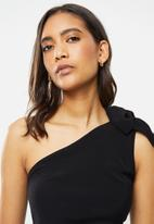 Cotton On - Party time one shoulder top - black