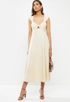 Vero Moda - Lola midi dress - beige