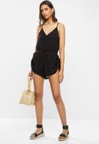 Vero Moda - Morning short jumpsuit - black