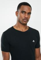 Jonathan D - Slim fit short sleeve V-neck - black