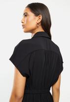 Vero Moda - Jeni short sleeve culotte jumpsuit - black