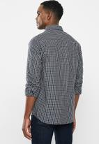 Jonathan D - Casual long sleeve check shirt - black