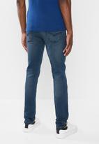 Jonathan D - Slim fit five pocke denim jeans - steel