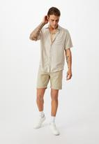 Cotton On - Washed chino short - stone