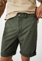 Cotton On - Washed chino short - pigment olive