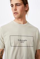 Cotton On - 5_boroughs boxed tbar street T-shirt - smoke