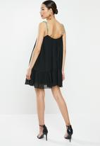 Missguided - Chain strap swing dress - black