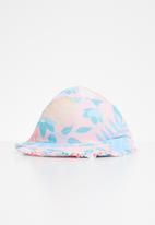POP CANDY - Ice-cream frill trim sunhat - coral