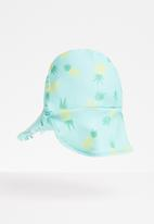 POP CANDY - Pineapple frill trim sunhat - aqua