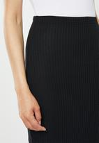 Missguided - Coord midi skirt ribbed - black