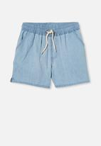 Cotton On - Los cabos shorts - light blue chambray