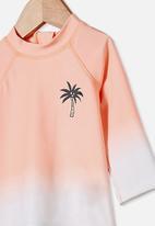 Cotton On - Freddie rash vest - tropical orange ombre
