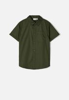 name it - Findus short sleeve camp shirt - green