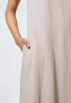 Superbalist - Trapeze pocket detail dress - neutral