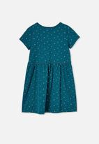 Cotton On - Freya short sleeve dress - jade jewel dabby spot