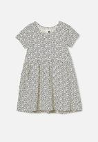 Cotton On - Freya short sleeve dress - dark vanilla dabby spot