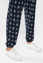 edit - Knit wide leg jumpsuit - navy